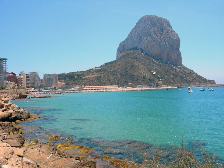 Calpe, Spain. The 1000 ft rock our group climbed this week. Amazing!