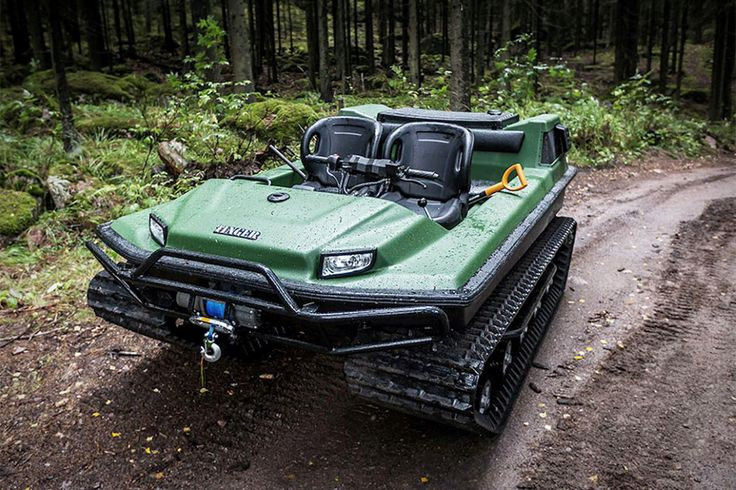 HOLY MAN-GROWL! This is what happens when a tank and an ATV have a baby. Introducing, the Tinger Track C500. This ironclad bad boy might be