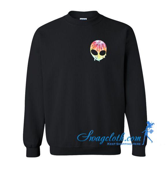 Rainbow Melting Alien Sweatshirt