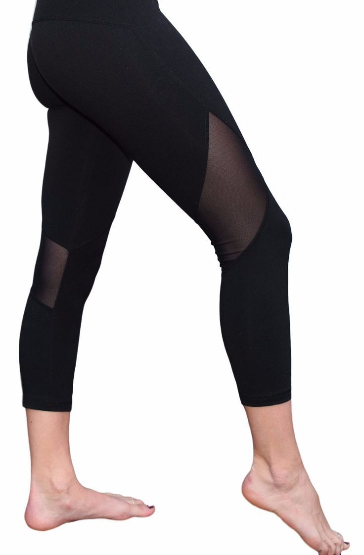 - Breathable mesh yoga pants with comfortable fabric - Great for yoga, running, cycling, and lounge wear - Washer and Dryer Safe - 87% Nylon 13% Spandex - Small pocket on the waistband
