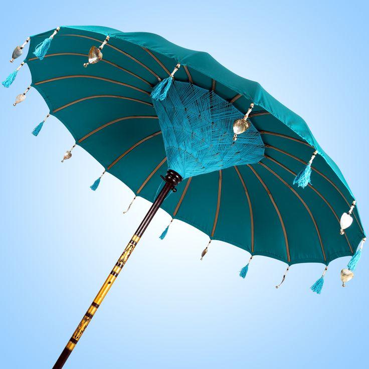 DEEP SEA GREEN - unieke parasol met vernieuwde decoratie set!