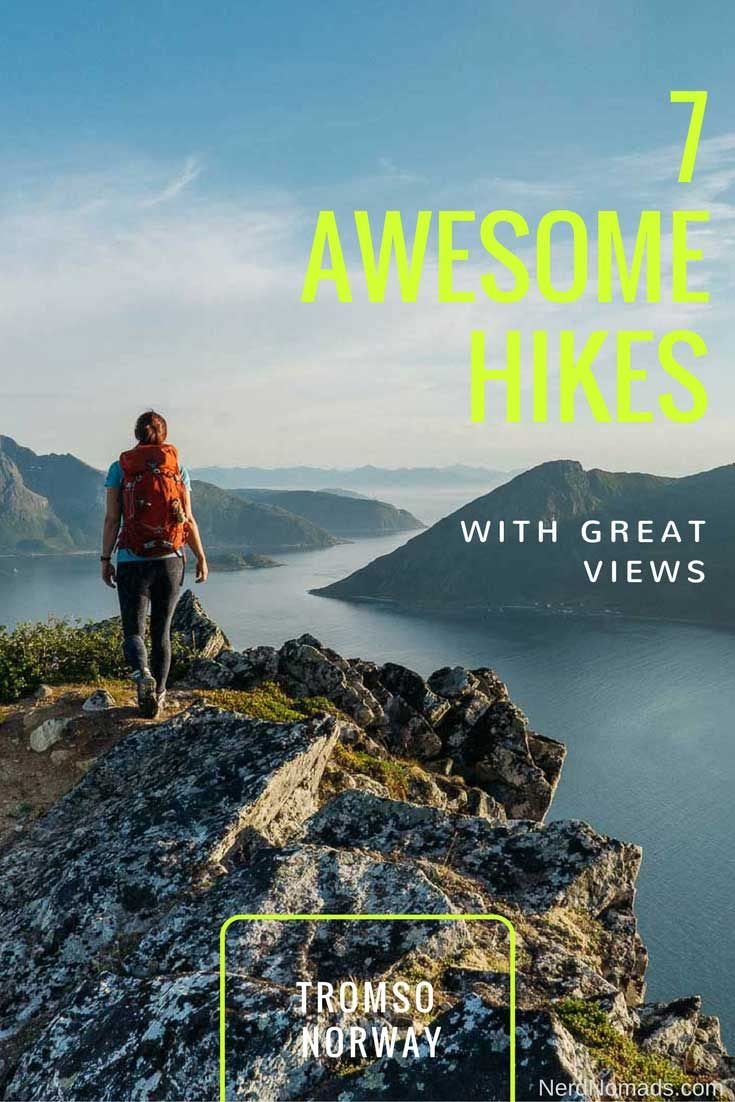 Tromso, a city north of the Arctic Circle in Norway, is covered by mountains and wilderness and is the perfect place for hiking! Click here for 7 easy spectacular hikes