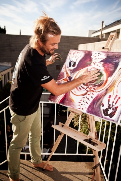 Xavier Rudd painting <3