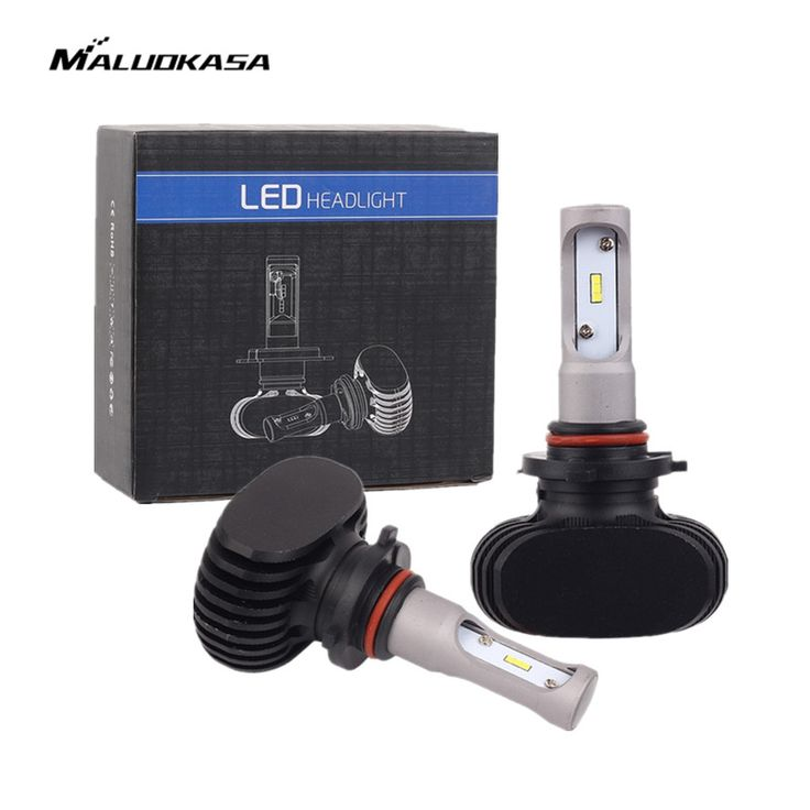 Promo MALUOKASA 2PCs S1 Car Headlight 9005 9006 H8/H9/H11 H7 H4/HB2/9003 Hi/Lo LED Auto 50W 8000LM 6500K Light Bulb Lamp Car-styling #MALUOKASA #2PCs #Headlight #9005 #9006 #H8/H9/H11 #H4/HB2/9003 #Hi/Lo #Auto #8000LM #6500K #Light #Bulb #Lamp #Car-styling