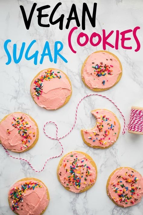 Vegan Sugar Cookies- these vegan cookies come together in just one bowl and are perfect for birthday and holiday baking that everyone will love!