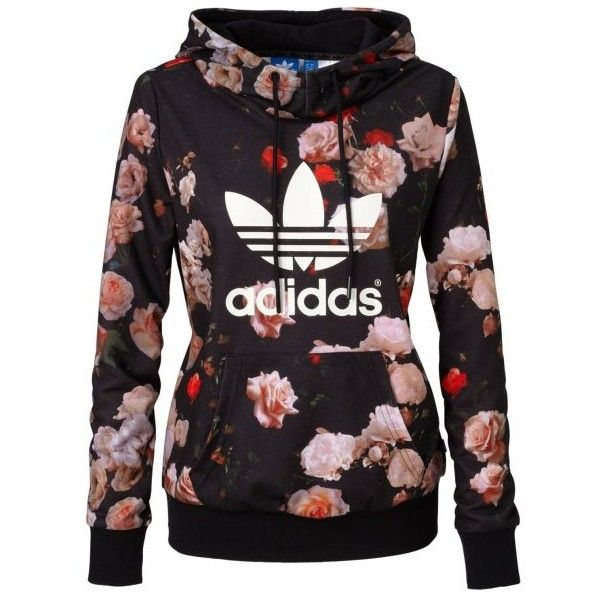 ADIDAS ORIGINALS Hoodie ($79) ❤ liked on Polyvore featuring tops, hoodies, jackets, pullover, pullover hooded sweatshirt, sweatshirts hoodies, adidas originals hoodie, hooded pullover and adidas originals hoodies