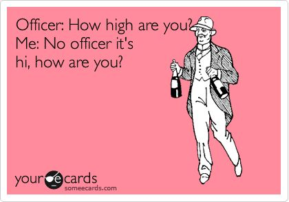 no, officer.: Police Officer, Funny Shit, Ahaha, Proper Language, Lmfao Funny, Funny Stuff, High, Funny Ecards, Stoner