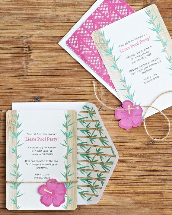 Invite friends and family over for summer fun with these tropical-themed printable invitations.Shop the Martha Celebrations Summer Pool Party at jcp.com