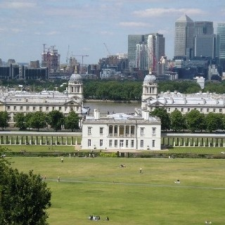 Greenwich Park before the construction of the site for the equestrian events of the London Olympics.