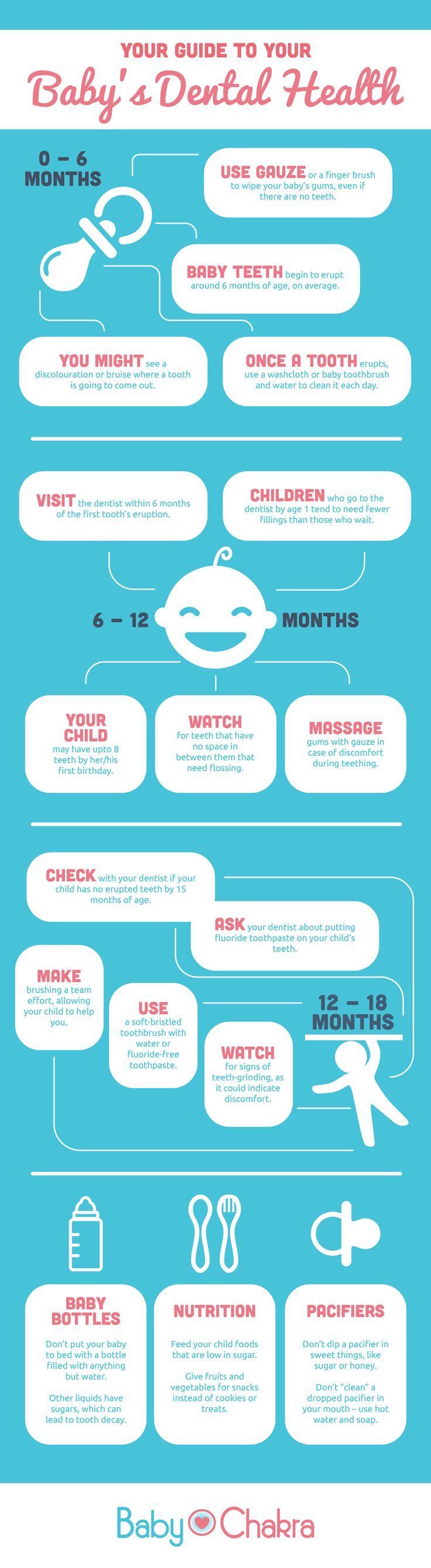 Baby's Dental Health InfoGraphic
