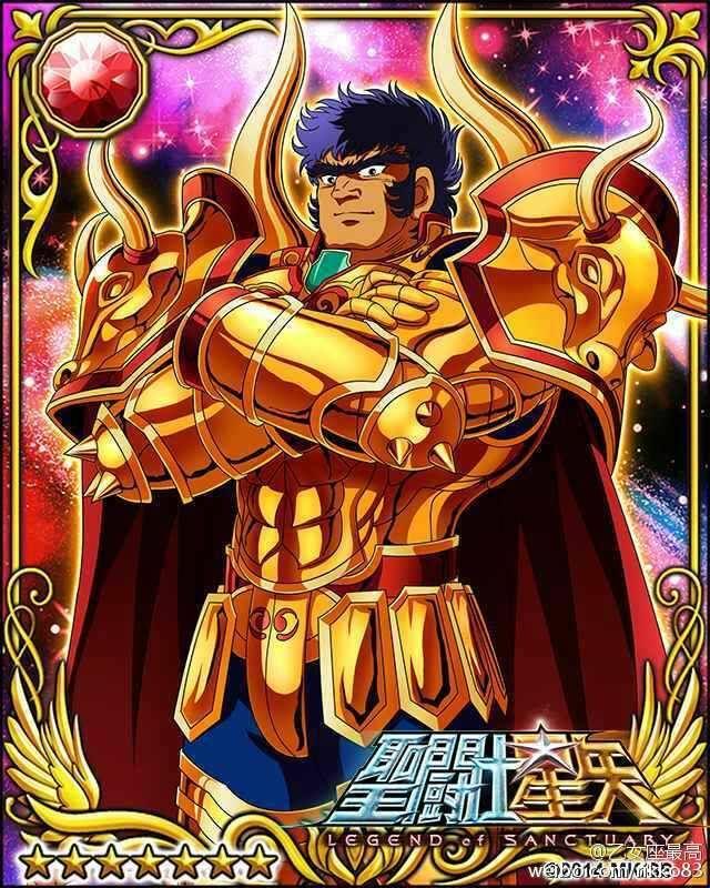 Gold Saint Taurus Aldebaran 1 Galaxy Cards version Saint Seiya Legend of Sanctuary