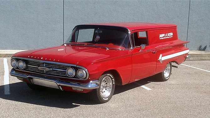 1960 Chevrolet Sedan Delivery 350 CI, Automatic presented as lot W77 at Kissimmee, FL 2015 - image1