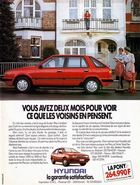 Hyundai Pony 1988 | Flickr - Photo Sharing!