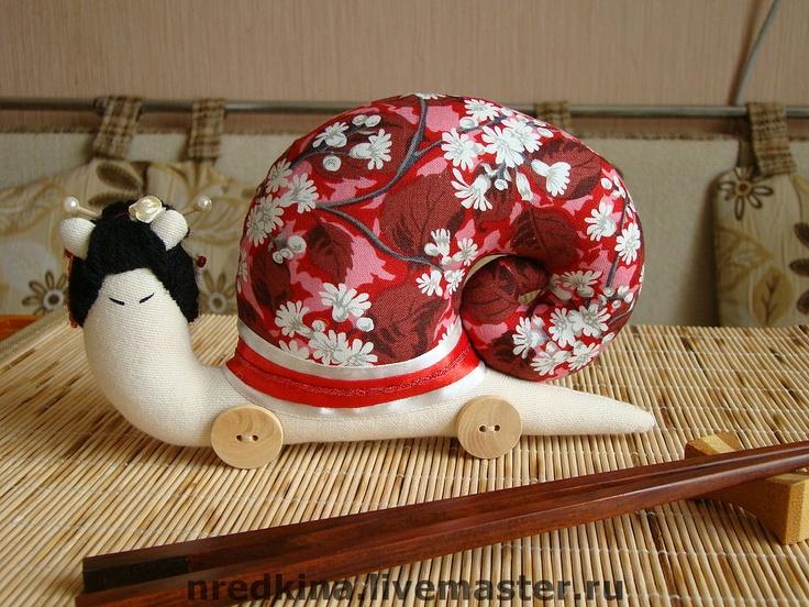 Куклы Тильды ручной работы. Ярмарка Мастеров - ручная работа Улитка-Гейша. Handmade.