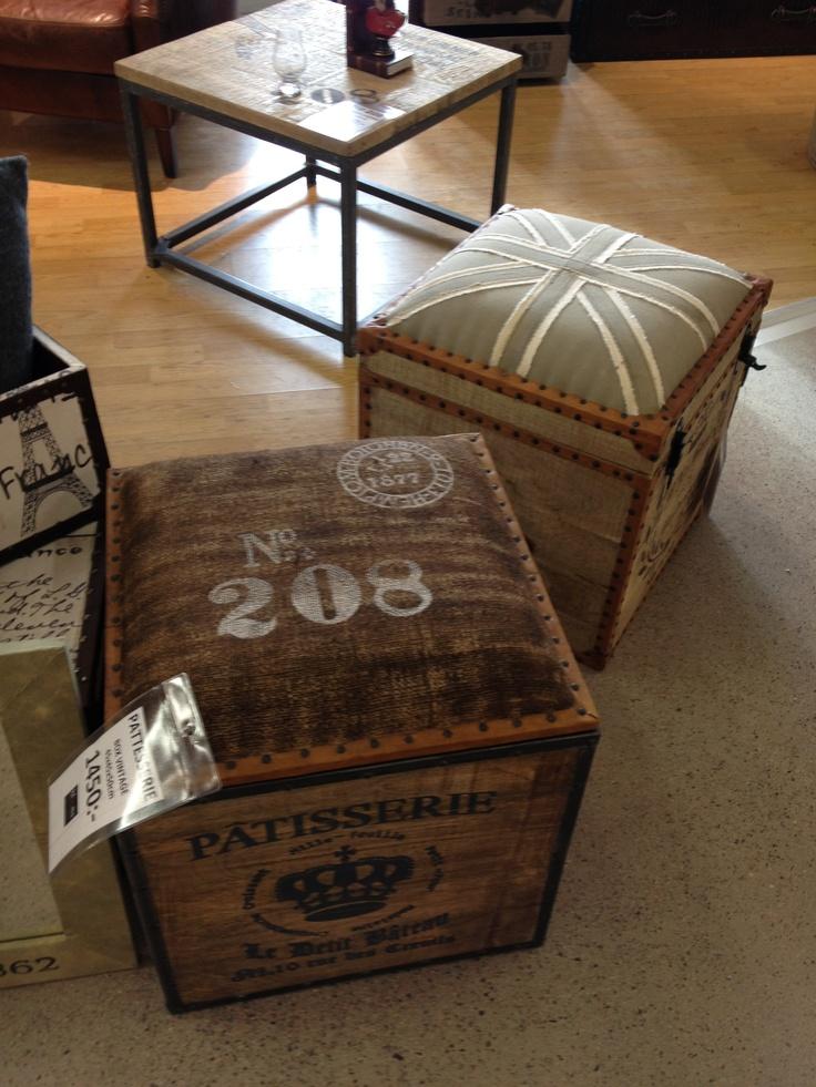 Stylish stools with storage. (Blooms möbler Kållered, Sweden)