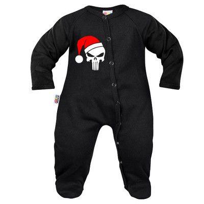Pyjama bébé original : CRÂNE DE NOËL
