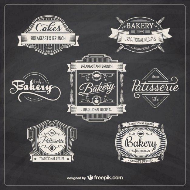 Bakery retro Abzeichen Kostenlose Vektoren