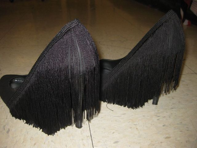 Fringe heels...don't know when or where I'd wear them but they're pretty fantastic.