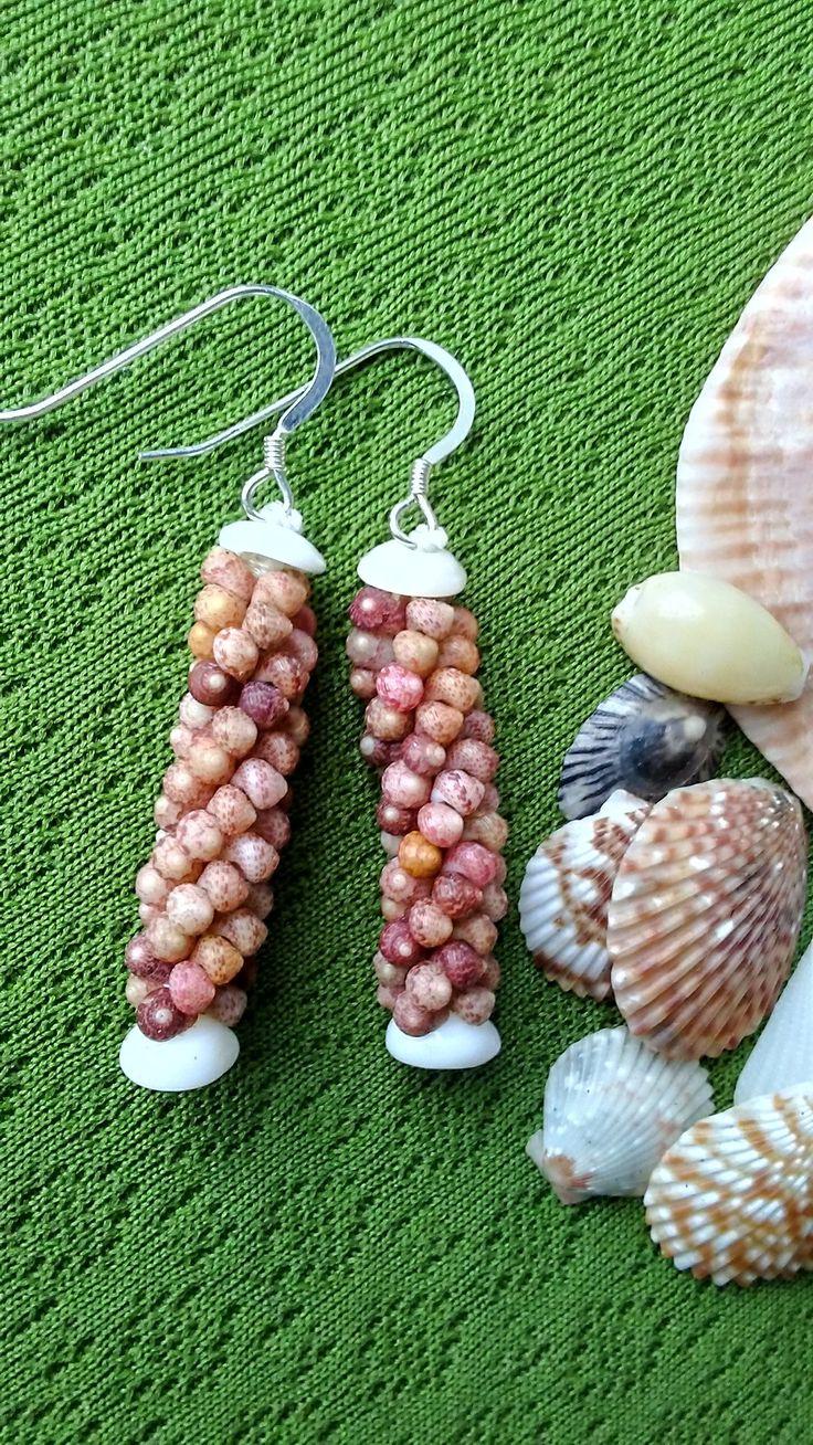 Shell Earrings - Sea Shell Earrings- Rare Shells-Natural Art - Eco Friendly Island Earrings- Authentic High Quality Kauai Shells