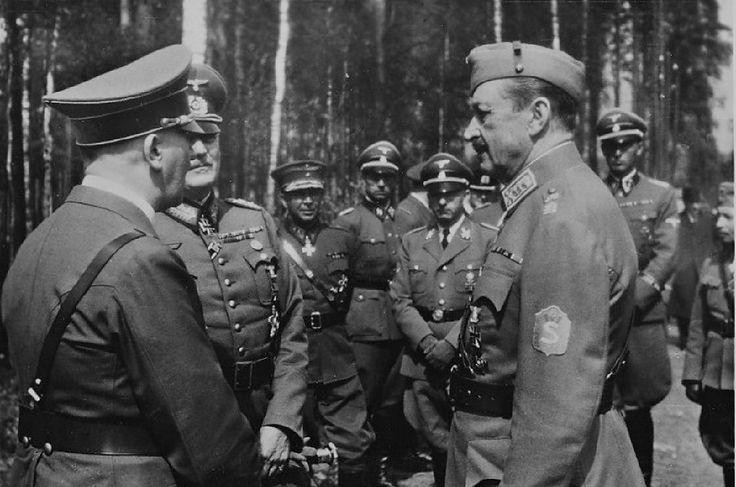 Hitler, Keitel and Mannerheim, June 1942, Finland