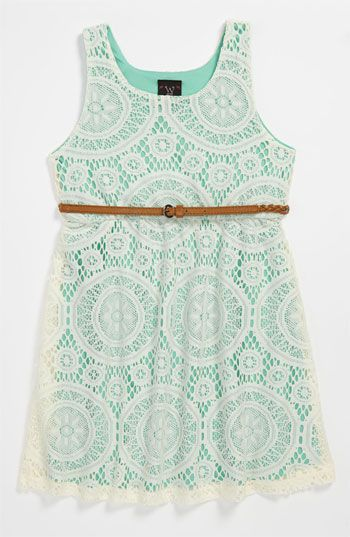 W Girl Belted Dress (Little Girls) | Nordstrom
