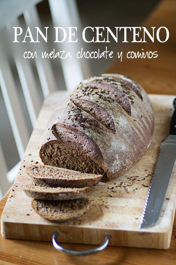 Pan de centeo, melaza e chocolate, de amiloquemegustaescocinar