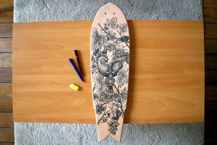La tabla de skate de Steeven SALVAT | Blog de diseño gráfico y creatividad.