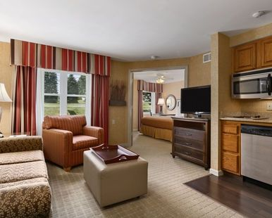 Homewood Suites Syracuse/Liverpool Hotel, NY - King Suite Living Area | NY 13088