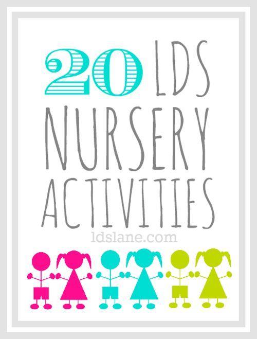 LDS Nursery Activity Ideas at ldslane.net