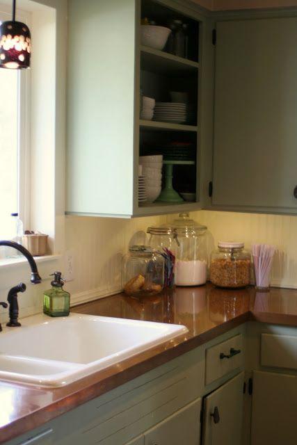 Remodelaholic | Copper Countertops Tutorial; Kitchen Renovation Idea