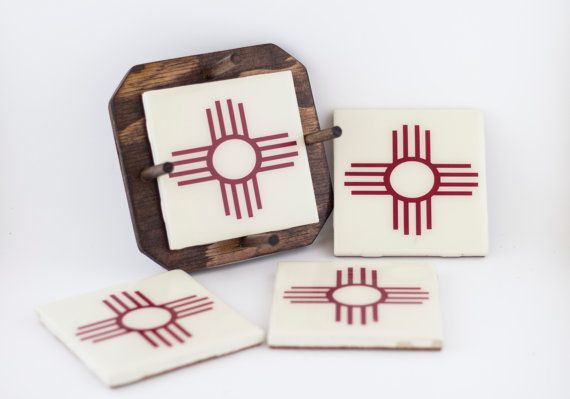 Southwestern Home Decor  New Mexico Coasters  by BeesHandmadeGifts