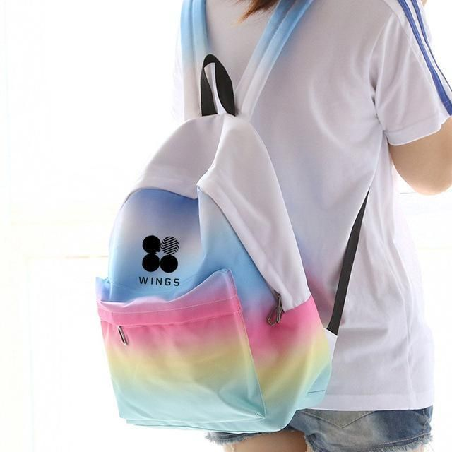 Wings Album Rainbow Ombre Backpack