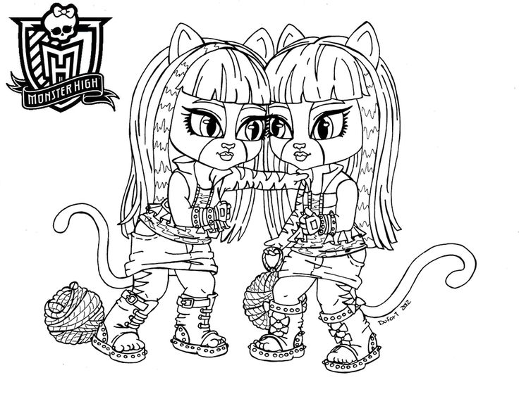 baby monster high coloring pages baby purrsephone et meowlody by jadedragonne on deviantart. Black Bedroom Furniture Sets. Home Design Ideas