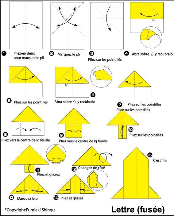 Origami lettre (fusée)