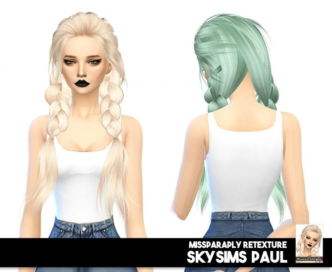 Skysims Paul hair retexture solids at Miss Paraply • Sims 4 Updates