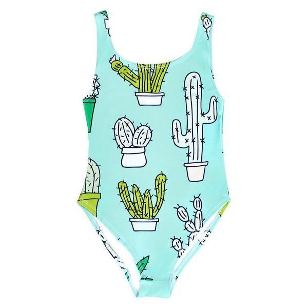 BATOKO   Cactus Swimsuit   Women's One-Piece Swimwear   Worn by Zoella