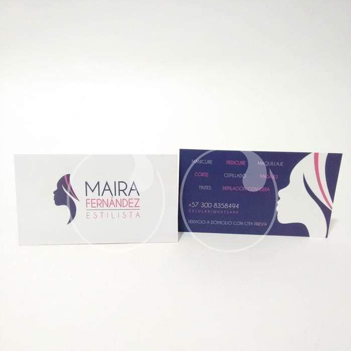 Millas de tarjetas para Maira, una excelente profesional en belleza!