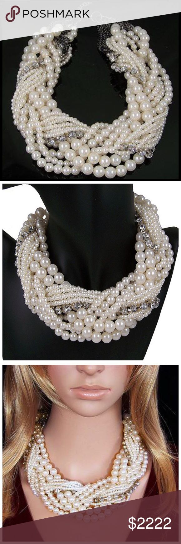 ‼️COMING SOON Chunky Twisted Pearl Necklace ‼️‼️ PLEASE LIKE THIS LISTING TO BE NOTIFIED WHEN THIS ITEM IS LISTED ‼️‼️ Jewelry Necklaces