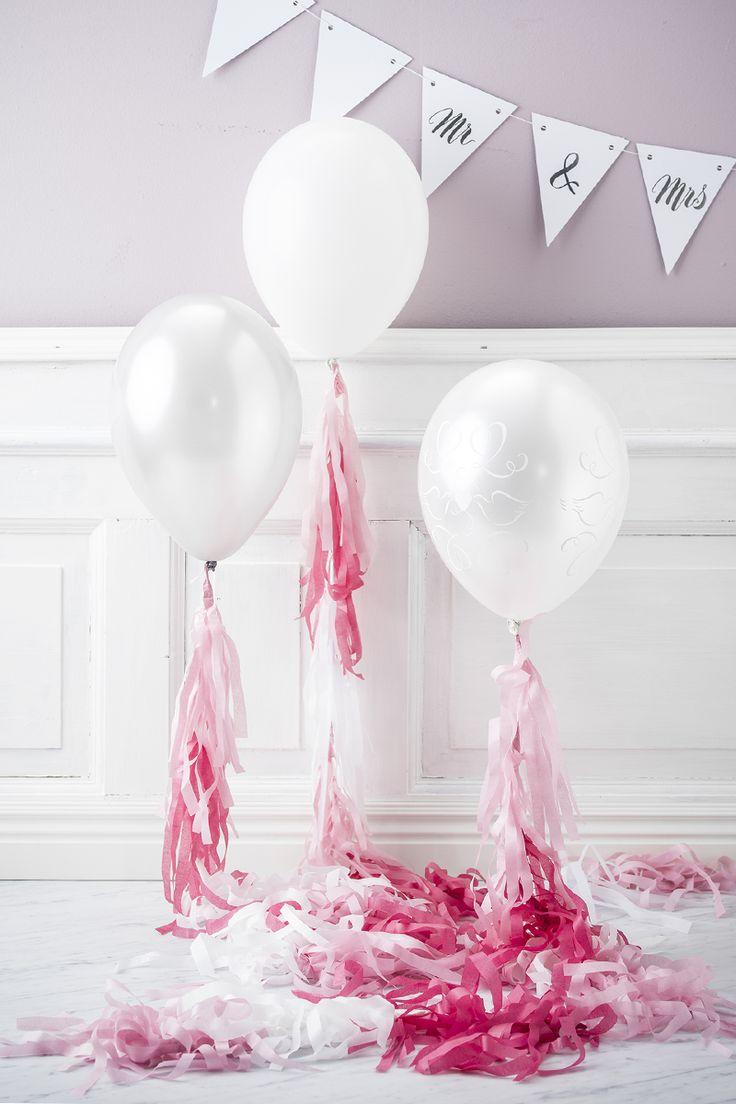 Wedding balloons www.panduro.com #DIY