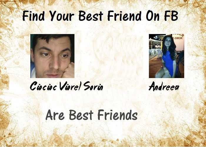 Check my results of Find Your Best Friend? Facebook Fun App by clicking Visit Site button