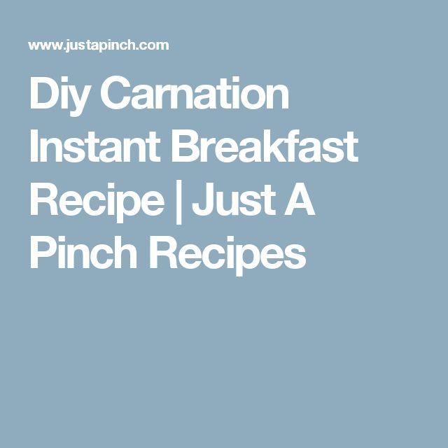 Diy Carnation Instant Breakfast Recipe | Just A Pinch Recipes