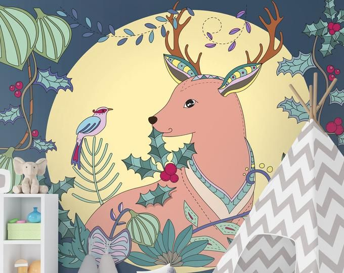 Kids Wallpaper Peel And Stick Self Adhesive Gray Mountain Wall Mural Hot Air Balloon With Stairs Wallpaper Kids Mountainscape Wall Mural Free Illustrations Christmas Coloring Books Vector Free
