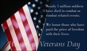 Veterans Day Wishes Quotes For Wall of Honor