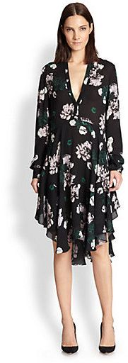 A.L.C. Souls Silk Floral-Print Dress