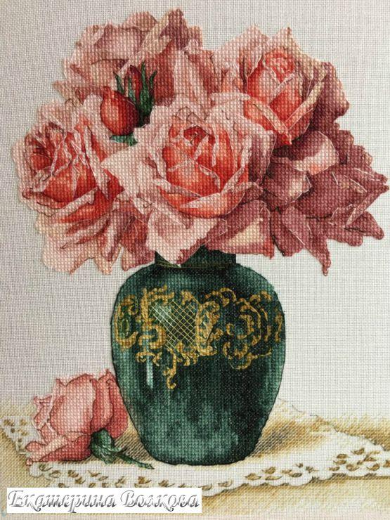 Gallery.ru / Фото #14 - Розы в вазе - appolinaria74