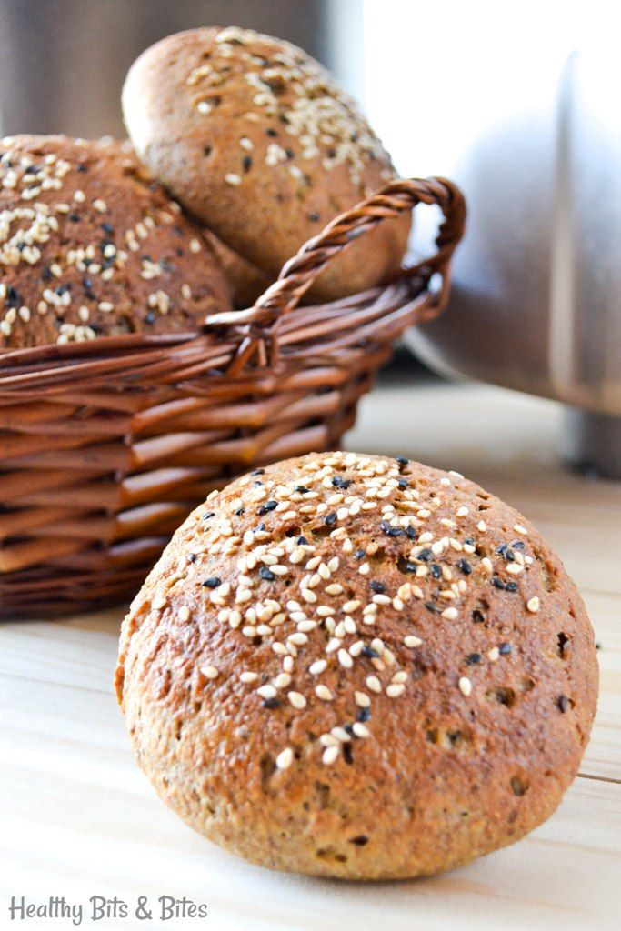 Multigrain breadmaker burger buns! The perfect base for delicious, homemade burgers.| Healthy Bits and Bites
