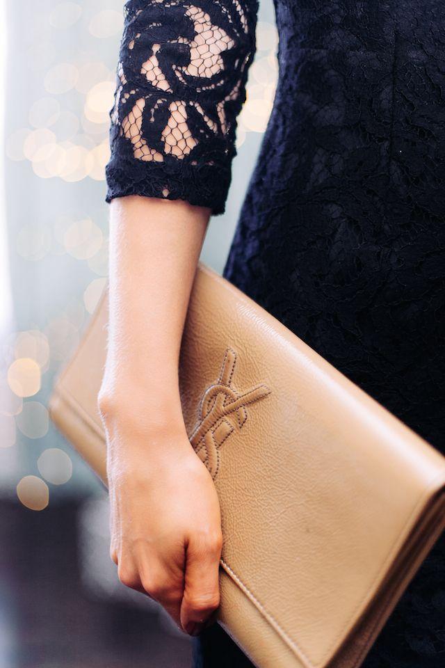 nude YSL clutch #style #fashion #bags