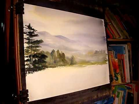 Watercolour Landscape Painting Demonstration Featuring Eskdale In The Lake District Par Watercolor Landscape Landscape Paintings Watercolor Landscape Paintings