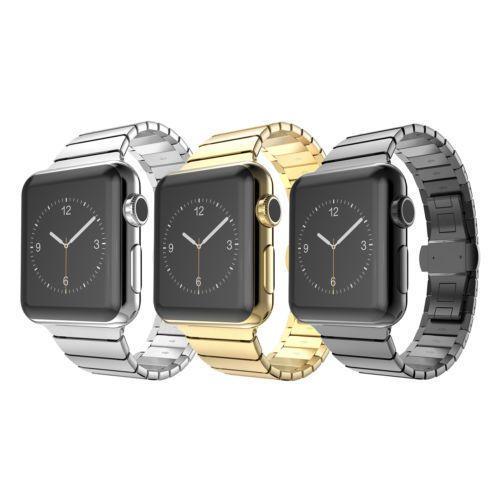 2fd5555c393 Butterfly Lock Link Bracelet Watch Band Strap For Apple Watch Stainless  Steel