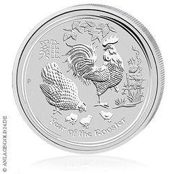 1oz Silbermünze Jahr des Hahns aus Australien 2017